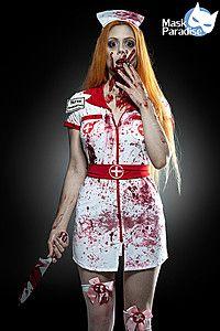 Zombie Nurse Komplettset weiß/rot Doctor Halloween, Zombie Halloween Costumes, Looks Halloween, Hallowen Costume, Halloween Inspo, Halloween Outfits, Costume Ideas, Halloween Party, Girl Costumes