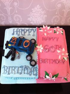 Birthday Cake For Mother And Son