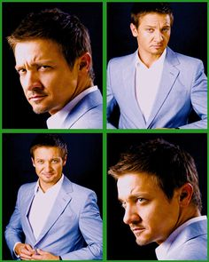 Jeremy Renner- Oh my goodness... I love the top left picture! *sigh*