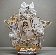Cards by Astrid: Believe in the Magic !!!  Christmas Star Design...card, wall decor, or ornament...convert to a tree topper.  x0x P