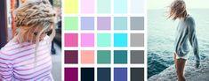 Sommertyp-Farben: Kalte Farbkarte