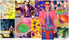 #FashionSnoops #printtrends on #WeConnectFashion. SS17 Men's graphics story: graphics story: Psychedelic Beach