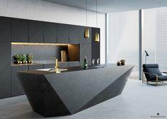Kitchen Interiors at VWArtclub Modern Kitchen Interiors, Luxury Kitchen Design, Kitchen Room Design, Luxury Kitchens, Home Decor Kitchen, Modern Interior Design, Interior Design Kitchen, Kitchen Modern, Kitchen Ideas