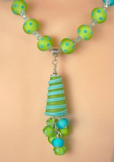 Wild and Whacky Summer Artisan Lampwork Necklace