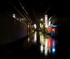 A-town at night