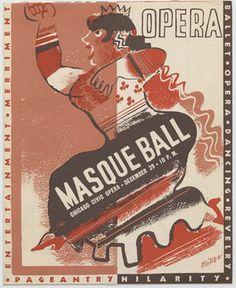 Program, invitation and tickets, Grand Opera Masque Ball, Chicago Civic Opera, 1933. R.R. Donnelley & Sons Company Archive. #rrdonnelley #printer