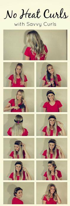 No heat curls! Using a headband! #savvycurls