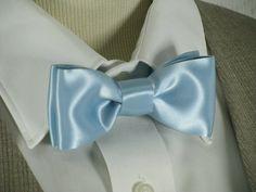 Light Blue Bowtie Wedding Bow Tie Groomsmen Bowtie by EuphoriaRoad, $29.00