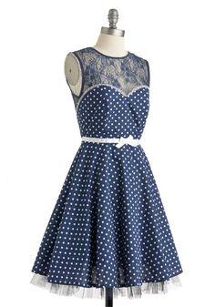 A Dot to Love Dress   Mod Retro Vintage Dresses   ModCloth.com