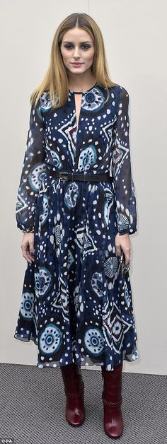 Patterned princess: Choosing to wear more bold patterns, the star dazzled in a floaty boho...