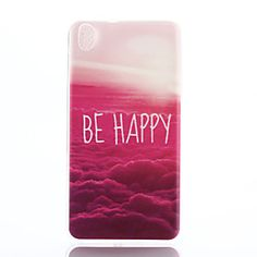 Be Happy Multicolor Clouds Pattern Ultrathin TPU Soft Back Cover Case for HTC Desire 816