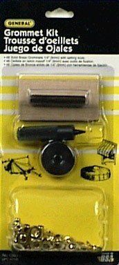 """General Tools 71260 1/4?Ç¥ Grommet Kit by General Tools. $6.80. General Tools 71260 1/4 Grommet KitOur Utility Grommet Kits provide an economic solution for repairing tarps, tents, awnings and pool covers. Each easy-to-use set includes a hardened steel hole cutter, a matched mandrel/anvil pair, a hardwood backer block and an assortment of grommets. We offer three kit sizes (1/4"""", 1/2"""" and 3/8"""") as well as the option to purchase additional grommets.General Tools ..."""