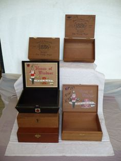 CIGAR BOXES- great for gift boxes.