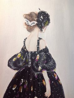 Oil and Acrylic Chanel Haute Couture Fashion by ImNoHolbein