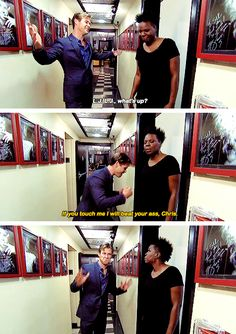 When she was not even remotely here for Chris Hemsworth's shit.   19 Times Leslie Jones Was A Gift We Didn't Deserve