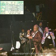 Blues Boy King ciao.  L' ultima volta insieme era il 1998!  #bbking #blues #TheKingOfBlues #Live #IrvingPlaza #NewYork #1998 #KitchenShuffle