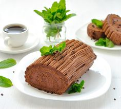 chocolate mint rolled cake