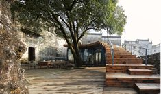 Image 1 of 37 from gallery of Restoration and Reconstruction of Liu Geng Tang Hall / Design / He Wei Studio. Photograph by Liming Fang Arch Architecture, Amazing Architecture, Urban Furniture, Street Furniture, Landscape Elements, Landscape Design, Restaurant, Old Building, Nice View