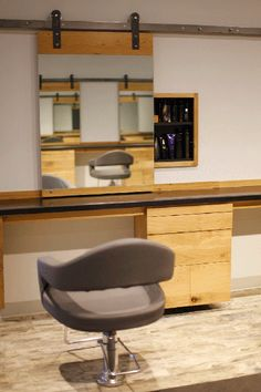 Like the sliding mirror to hidden product recessed shelf