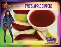 Eviies apple dippers and Drink icon disney movies Evie's Apple Dippers Recipe from Descendants 9th Birthday Parties, Girl Birthday, Birthday Ideas, Recipe Icon, Decendants, Disney Food, Disney Stuff, Disney Movies, Disney Descendants