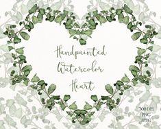 Green Herb Heart Wreath