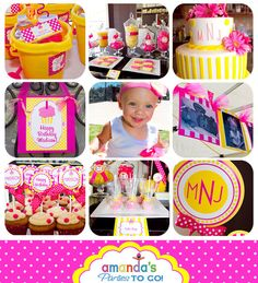 Bucket favors- Cupcake Birthday Party - Cupcake Party Printable Set by Amanda's Parties TO GO. $29.00, via Etsy.
