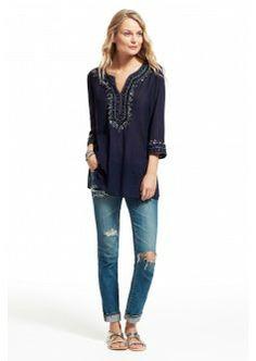 Perosia Embellished Cotton Tunic