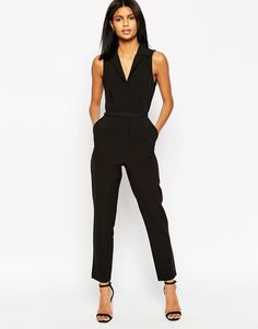 2930067c126 Budget Work Wear  Black Jumpsuit perfect throw on and go for work under  90  Tailored