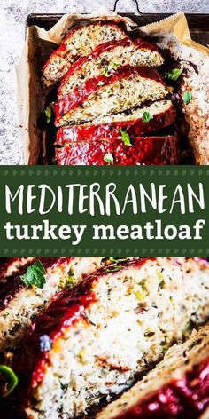 Turkey Meatloaf is an easy entree your whole family will love. Mediterranean Turkey Meatloaf is an easy entree your whole family will love. Serve it with your favorite sides for a healthy dinner you'll make again and again. Mediterranean Diet Recipes, Mediterranean Dishes, Healthy Chicken Dinner, Healthy Dinner Recipes, Paleo Dinner, Healthy Food, Best Fat Burning Foods, Turkey Meatloaf, Appetizer Salads