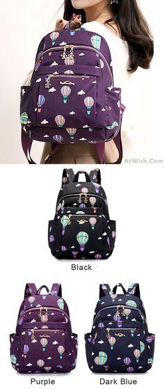 7f73b995734 Cartoon Hot Air Balloon Oxford Nylon School Bag Student Backpack for big  sale! #Hot