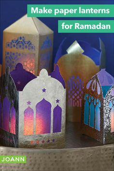 Light your home or your table throughout Ramadan with these colorful paper lanterns! These easy lanterns are made with paper and make a perfect project for kids.