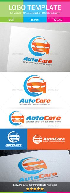 Auto Care Logo — Photoshop PSD #hand #service • Available here → https://graphicriver.net/item/auto-care-logo/11242146?ref=pxcr