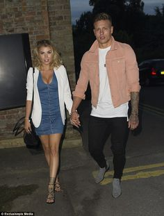 Loved-up: Olivia Buckland and Alex Bowen are proving they're stronger than ever as they packed on the PDA as they arrived at Sheesh restaurant in Chigwell on Wednesday night Alex And Olivia, Alex Bowen, Olivia Buckland, Hot Guys, Hot Men, Couple Outfits, Celebrity Couples, Celebs, Celebrities