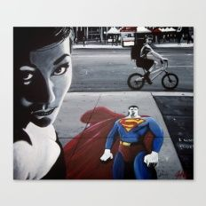 I WANT TO BE YOUR SUPERHERO Canvas Print
