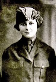 On August 13, 1918 -- women officially enlisted in the United States Marine Corps for the first time. Among the 305 women who signed up that day, Opha Mae Johnson (pictured above) was the first in line. It would be two more years before women would achieve the right to vote in the US.  First female US Marine.  Hero.