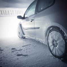 My Clio RS On Snow