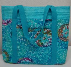 Sew 'N' Go Quilted Handbag – PDF Pattern + How to Add Rickrack to Seams Free Video Tutorial by Jo-Lydia's Attic Designs