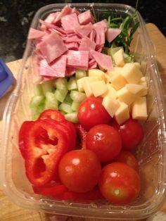 Dagens lunsj. Salat i box