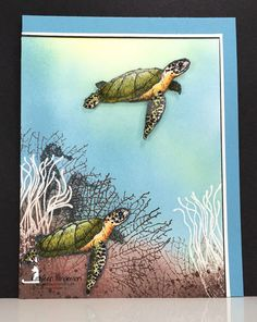 Masculine card made with the From Land to Sea stamp set from Stampin Up and Copic markers by Kathleen Wingerson