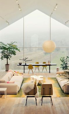 vitra house    This is the exact right thing to do when your house has a great view.  This would be perfect for a beach house. Window Wall, Open Window, Window View, Roof Window, Attic Window, Ceiling Windows, Huge Windows, Clerestory Windows, Vitra Sofa