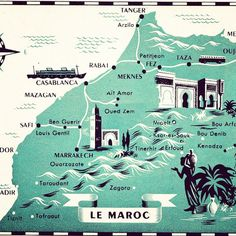The 12 best Maps of Morocco images on Pinterest | Morocco, Cards and ...