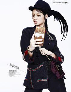 Selfies!: Jaclyn Yang for Cosmopolitan China November 2015 - Gucci jacket, Chanel bag