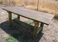 mesas rusticas en madera