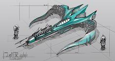Spaceship Concept Design by l-Just-l on DeviantArt