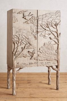 Land & Sky Bar Cabinet - How beauiful!! Great woodwork! anthropologie.com