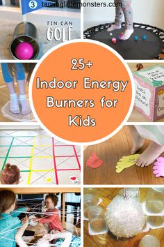 Stuck inside on a rainy day? Get your kids moving with these Indoor Energy Burners for Kids. fun and easy gross motor games and activities to try. Physical Activities For Kids, Rainy Day Activities For Kids, Gross Motor Activities, Activities For Adults, Sorting Activities, Toddler Activities, Creative Activities, Creative Kids, Preschool Activities