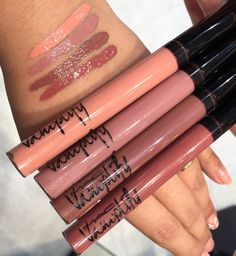 Mac Vamplify longwear lipgloss; 2nd- Anything but demure, 3rd- Hyper fabulous  4th- Tuned in