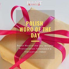 #wstążka #ribbon #Polish #PWOTD #PolishWordoftheDay #Poland #Polska #LearnPolish Learn Polish, Polish Words, Word Of The Day, Languages, Cleveland, Poland, Ribbon, Instagram, Idioms