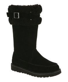 Look at this #zulilyfind! Black Avery Suede Boot - Women by BEARPAW #zulilyfinds