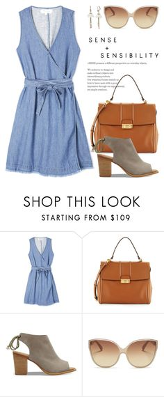 """""""Summer Dress 3820"""" by boxthoughts ❤ liked on Polyvore featuring Madewell, Lanvin, TOMS, Linda Farrow and Betsey Johnson"""